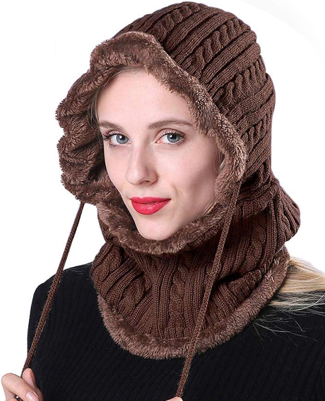 Winter Knitted Hat Fleece Lined Caps Outdoor Ski Riding Face Mask Balaclava Cap for Men Women