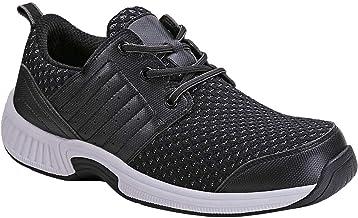 Orthofeet Proven Foot and Heel Pain Relief. Extended Widths. Best Orthopedic, Plantar Fasciitis, Diabetic Men's Walking Shoes, Edgewater