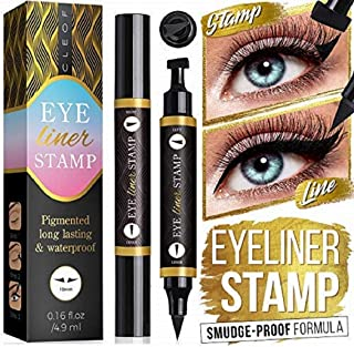 Eyeliner Stamp – One Second Perfect Winged – Quick & Easy to Use - Extremely Pigmented, Waterproof, Smudge-Proof - Cruelty-Free & Vegan - 2 Pieces Left and Right - for Perfect Cat Eyes