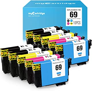 myCartridge Remanufactured Ink Cartridge Replacement Epson 69 High Yield Fit Workforce 30 610 615 1100 1300 Stylus C120 CX5000 CX6000 CX8400 CX9400Fax Printer 10-Pack(4Black,2Cyan,2Magenta,2Yellow)