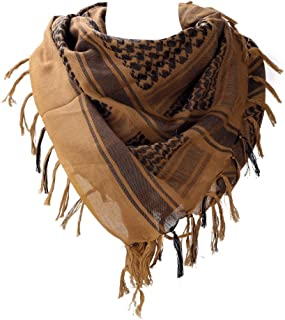 "100% Cotton Military Shemagh Arab Tactical Desert Keffiyeh Thickened Scarf Wrap for Women and Men 43""x43"""