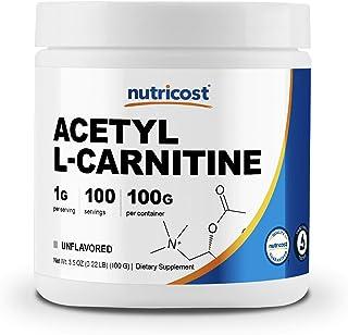 Nutricost Acetyl L-Carnitine (ALCAR) 100 GMS - 1000mg Per Serving - High Quality Acetyl L-Carnitine Powder