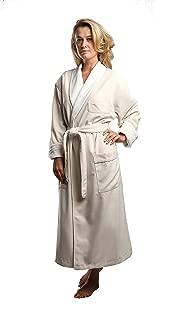 Terry Lined Microfiber Hotel Robe - Luxury Spa Bathrobe by Monarch/Cypress