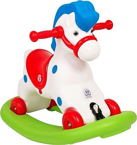 Globo Toys Globo 5167 ,5 51 77  2-in-1-VITAMINA _ G Schaukelpferd und Ride On Spielzeug