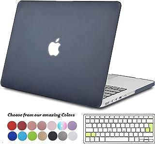 TECOOL Funda para MacBook Pro 13 Pulgadas con Retina Display, Plástico Dura Case Mate Carcasa con Tapa del Teclado para 2013-2015 MacBook Pro 13.3 Pulgada (Modelo: A1502/ A1425) - Negro Claro
