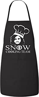 Freedomtees Jon Snow Cooking Team Game of Thrones Funny Kitchen Apron