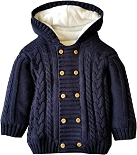 Baby Boys Hoodies Sweater Toddler Girls Knit Cardigan Outerwear