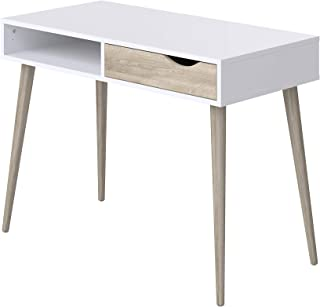 Movian Havel Scandinavian - Escritorio con 1 cajón 50 x 100 x 75 cm (blanco)
