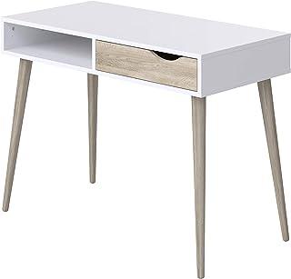comprar comparacion Movian Havel Scandinavian - Escritorio con 1 cajón, 50 x 100 x 75 cm (blanco)