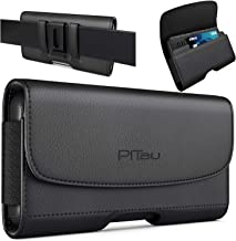 PiTau iPhone Xs Max Holster, iPhone 8 Plus 7 Plus Belt Clip Case, Premium Leather Holster..
