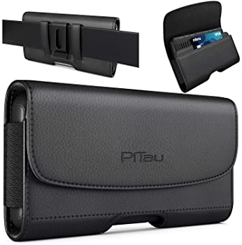 PiTau Belt Holster for iPhone SE, iPhone 8 / 7 / 6s / 6, Premium Holster Case with Belt Clip / Loops Belt Holder Pouc...