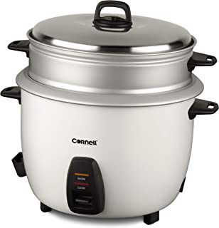 Cornell CRCCS282ST 2.8L Rice Cooker w/Steam Tray Silver