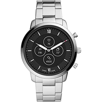 Fossil Men's Neutra Hybrid HR Smartwatch with Always-On Readout Display, Heart Rate, Activity Tracking, Smartphone Notifications, Message Previews