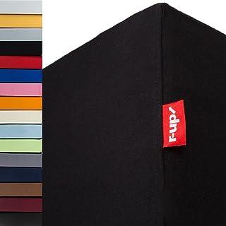 r-up Lot de 2 draps-housses de 140 x 200-160 x 220 à 35 cm - Hauteur : 95 % coton / 5 % élasthanne - 230 g/m² - Certifié Ö...