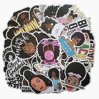 50 pcs Melanin Poppin Stickers | Black Girl Graffiti Patches|Singer Melanin Poppin Magic Decal Waterproof Vinyl Decals for...