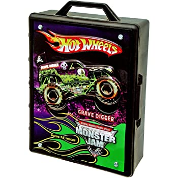 Hot Wheels Monster Jam Carry Case Holds 15 1:64 Scaled Hot Wheels Vehicles