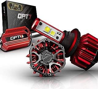 OPT7 FluxBeam H13 LED Headlight Kit w/Clear ARC-LENS Beam Bulbs & TIPM Resistor Kit - 60w 7,000Lm 5K OEM Bright White CREE– for Dodge, Ram, Jeep, Chrysler