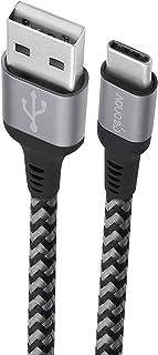 Cabo USB-C (tipo C) para USB, 3.1 velocidade, 5Gbps, nylon trançado, 1.5 m, UCC02, Geonav, Cinza Espacial