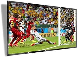 UTSLIVE 100 Inches 16:9 Simple Projector Screen Polyester Portable Foldable Wall Mounted Cinema Front and Rear Projection ...