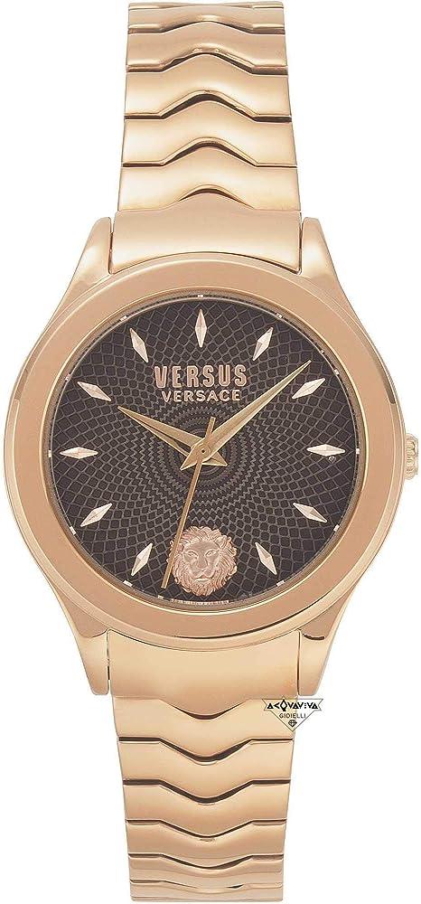 Versus versace orologio da  donna in acciaio ip oro rosa VSP561518