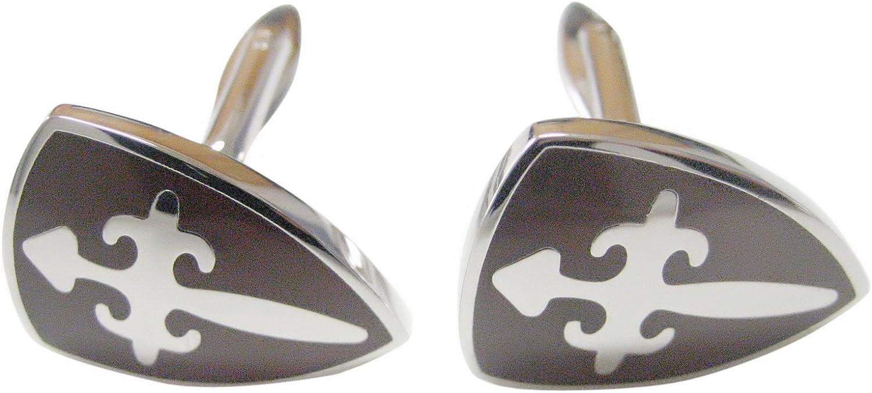 Brown Shield Cufflinks