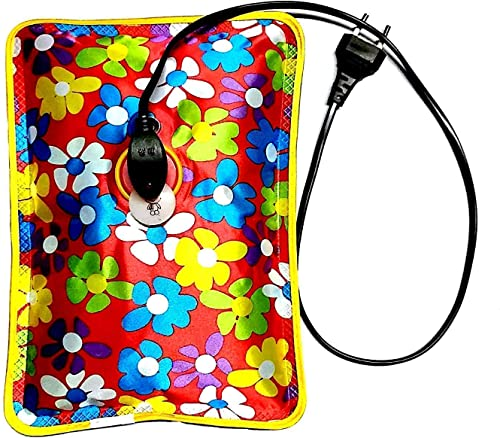 Delicate Designs Electric Gel Bottle Pouch Massager Hot Water Bag gelpad for backpain Multicolour
