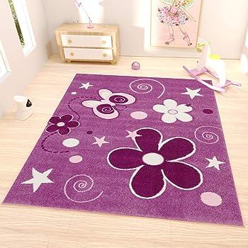 Paco Home Teppich Kinderzimmer Rund Kinderteppich M/ädchen Einhorn Motiv Modern In Pink Gr/össe:/Ø 120 cm Rund