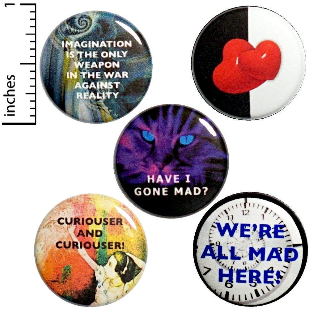 Alice In Mail order Wonderland 5 Pack P7-1 Buttons 1 Ranking TOP13 Inch