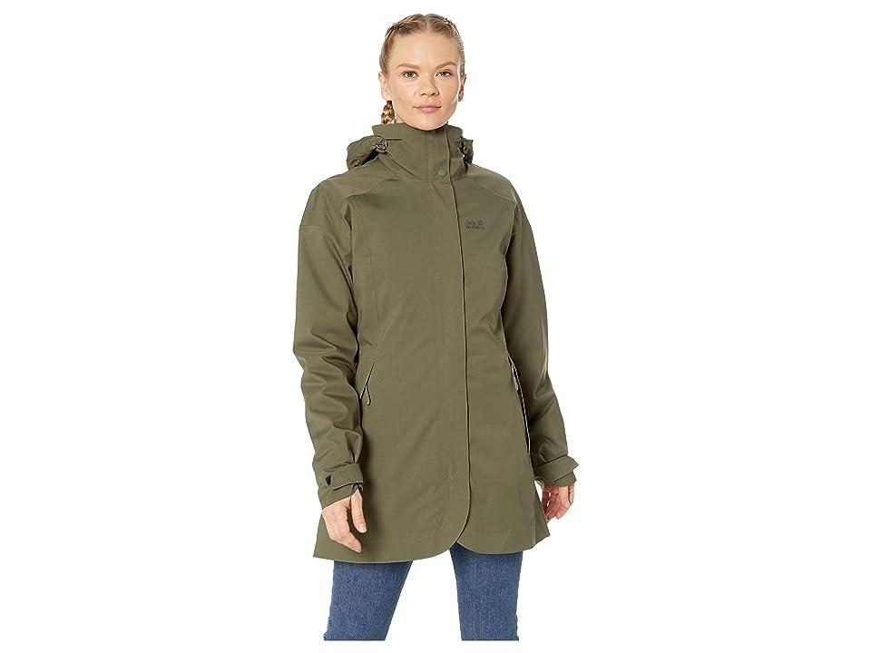 Jack Wolfskin Ruunaa 3-in-1 Waterproof Coat (Grape Leaf) Women
