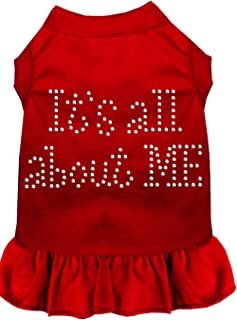 Mirage Pet Products Rhinestone All About Me Dress, X-Large, Red