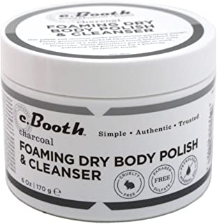 C. Booth Charcoal Foaming Dry Body Polish & Cleanser By Freeman C Booth, 6 Oz