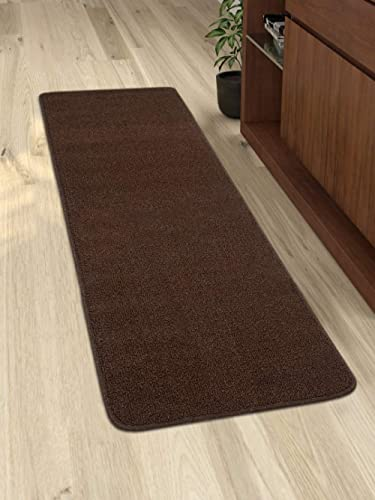 Saral Home Dark Brown Polypropylene Anti Slip Kitchen/Bedside Runner- 45x120 Cms