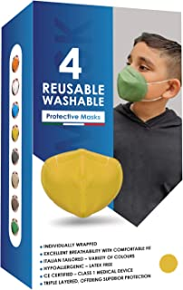 Klass Cosmetics Children Reusable Washable Comfortable Protective Cloth Face Masks Comes with Squeezable Metal Nose Strip ...