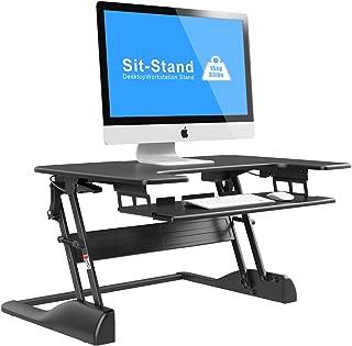 1home Altura Ajustable Elevador de Sit-Standing computadora de Escritorio estación de Trabajo Escritorio ergonómico Negro