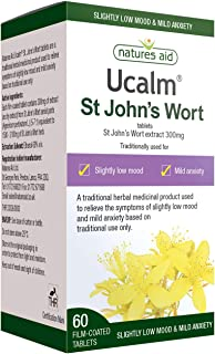 Natures Aid St John's Wort Extract 300mg (Ucalm) 60 Tablets – Low Mood & Anxiety