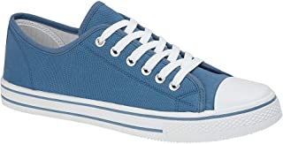Mens Canvas Baseball Shoes Trainers - Baltimore