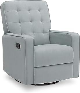Delta Children Gavin Recliner Glider Swivel Chair Featuring LiveSmart Fabric by Culp - Stain-Resistant, Repels Moisture, K...