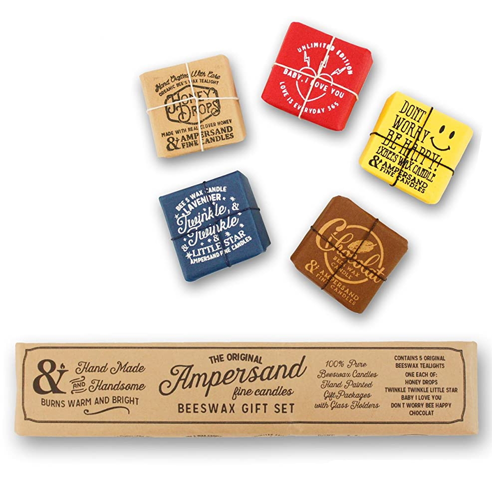 ネコ考える赤面Ampersand Fine Candles(アンパサンド ファイン キャンドル)キャンドル ルームフレグランス ASingle Bee X5 Gift Pack アロマ ギフト オーガニック OS,singlebeegiftpack