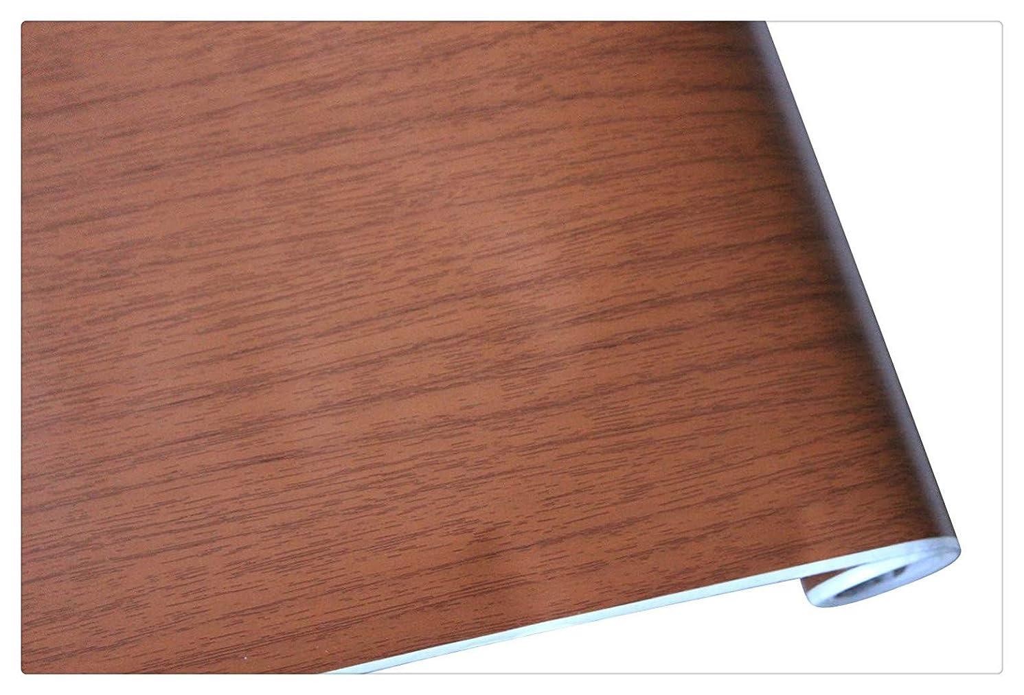 Peel and Stick Wood Grain Wallpaper Self Adhesive Film Matte for Furniture Kitchen Countertop Table 17.7