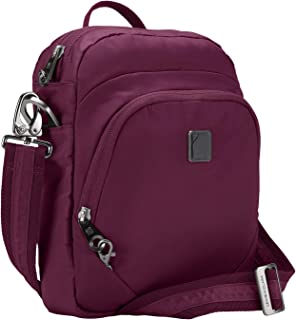 Lewis N. Clark Secura RFID Blocking Anti-Theft Backpack + Crossbody Bag for Travel, Plum
