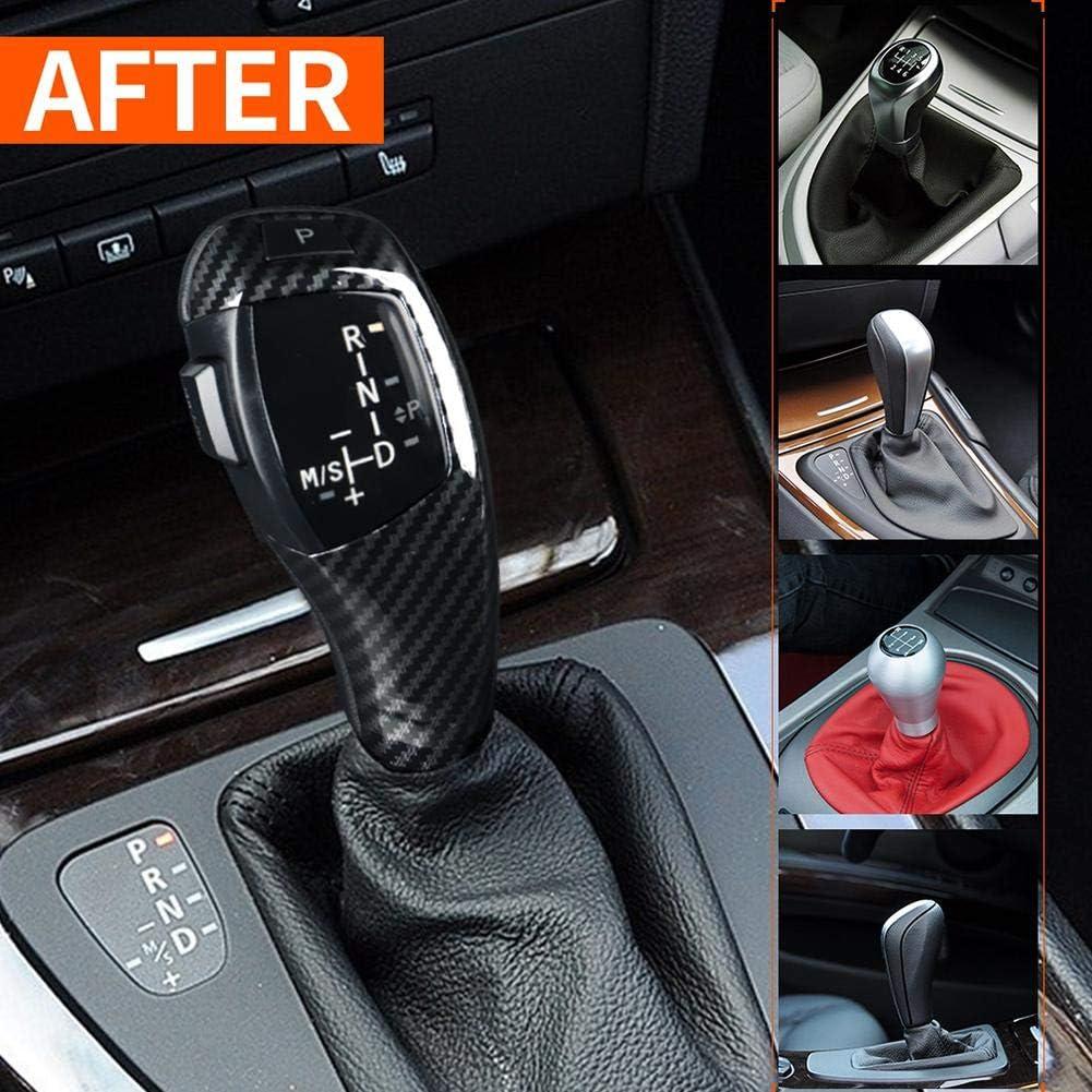 Carbon Pattern LED Gear Shift Knob For F30 Style LHD Automatic LED Gear Shift Knob Retrofit Kit for E90 E92 E84 E89