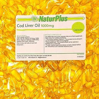 Cod Liver Oil Capsules 1000mg 365 High Strength Omega 3