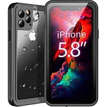 Temdan Waterproof iPhone 11 Pro Case, 360 Rugged Heavy Duty Full Body Shockproof Clear Case Built in Screen Protector Waterproof Cases for iPhone 11 Pro 5.8 Inch 2019 Release