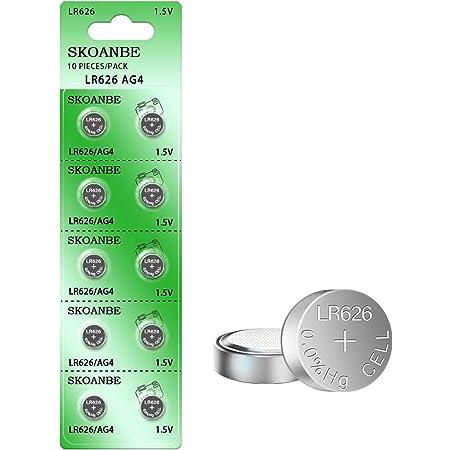 SKOANBE 10Pack 1.5V SR626SW 377 LR626 AG4 Watch Battery