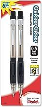 Pentel Quicker Clicker Automatic Pencil, 0.50 mm, Assorted, 2 per Pack (PD345BP2-K6)