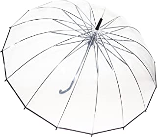 Sponsored Ad - Kung Fu Smith Clear Umbrella for Wedding, Bulk Pack Wholesale stick Rain Umbrella 10Pcs/Pack