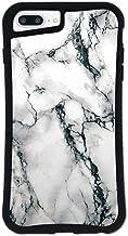 iPhone8 Plus ケース iPhone7 Plus ケース どこでもくっつくケース WAYLLY(ウェイリー) iPhone6 Plus iPhone6s Plus 着せ替え 耐衝撃 米軍MIL規格 [大理石 ホワイト] セット MK