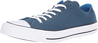 Converse Women's Chuck Taylor All Star 2018 Seasonal Low Top Sneaker, fir/Blue Hero/Inked, 4 M US