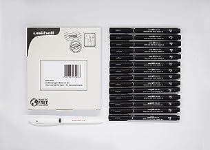 uni PIN Complete Black Ink Set: 14pc Assorted Nib Sizes + 1 x Exclusive Gelstick