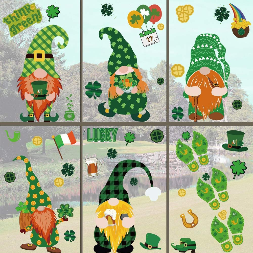 St Patrick's Day Challenge the lowest price of Japan Decorations At the price of surprise Window Gnomes Sha Leprechaun Clings